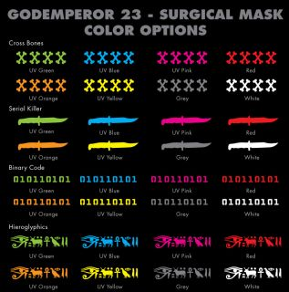 GodEmperor Cyber Goth Rave EBM Industrial Surgical Mask
