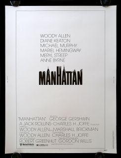MANHATTAN * 30x40 WOODY ALLEN ORIGINAL NEW YORK CITY MOVIE POSTER C9