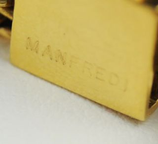 Manfredi Pink Tourmaline Diamond 18K Linked Bracelet
