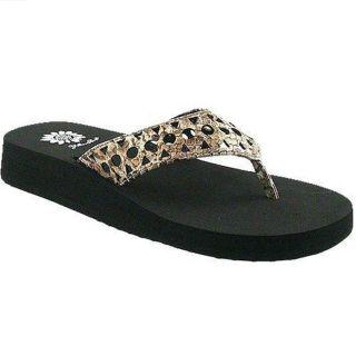 Yellow Box Maida Womens Casual Flip Flops Sandals Shoes 7 5 Brown Man