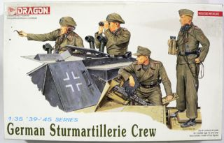 DML Dragon 1 35 Scale German Sturmartillerie Crew Miniature Military