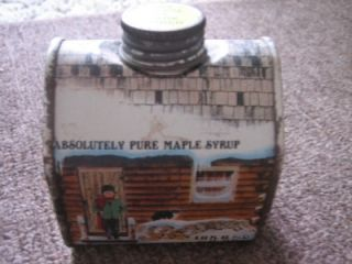Absolutely Pure Maple Syrup New England Container Tin
