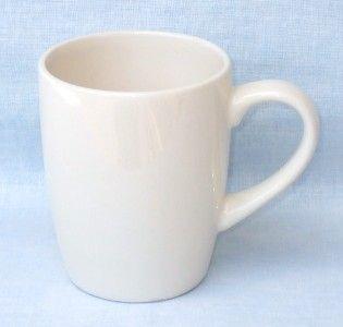 Manteno White 14 oz Stoneware Coffee Mugs Set of 4
