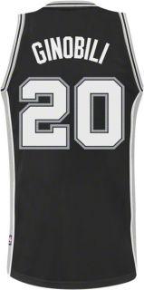 Manu Ginobili Black Adidas Revolution 30 Swingman San Antonio Spurs