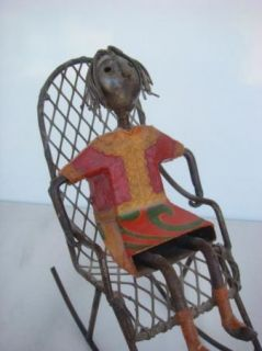 Manuel Felguerez 1928 Metal Rocking Chair Sculpture