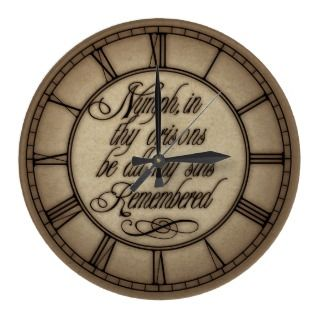 Be All My Sins Remembered Hamlet Quote Wallclocks