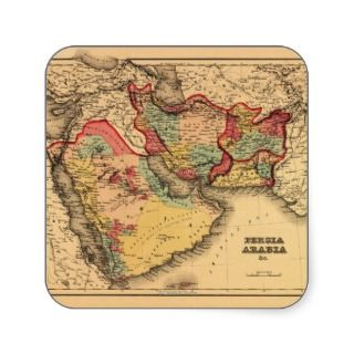 Middle East Persia ArabiaPanoramic Map Sticker