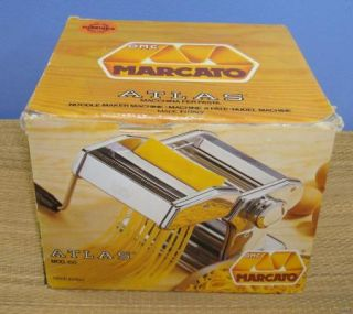 Atlas Marcato 150 Italy Hand Crank Table Top Pasta Maker Machine