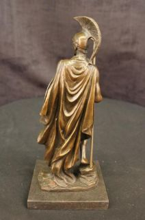 Bronze Marble Statue Roman Soldier Greek Warrior Military Hero Art