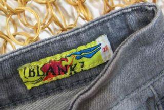 Blank NYC Womens Gray Wash Skinny Leg Distressed Stretch Jeans Sz 25