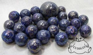 Marble Glass Bag Metallic Blue 1 Shooter Game Outer Space Rock