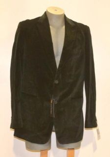Marc Anthony Size 44 Long Black Velvet Blazer Suit Jacket