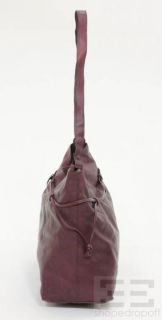 BOTTEGA VENETA Bordeaux Marco Polo Coated Canvas Tote Bag