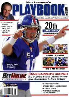 Marc Lawrences Playbook Magazine 2012 NFL Football New York Giants