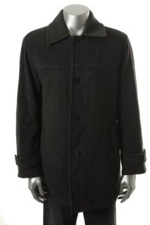 Marc New York Gray Wool Long Sleeve Button Front Lined Jacket Coat M