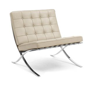 Knoll Barcelona Chair Lounge Stainless Steel Design Within Reach DWR