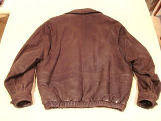 Andrew Marc Studio Brown Mens Leather Jacket RARE