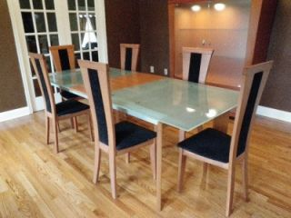 Italy Modern Contemporary Dining Set Table Chairs Hutch