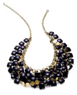 Charter Club Necklace, Gold tone Glass Bead Torsade Necklace   Fashion