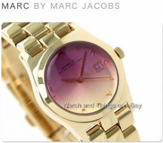 AUTHENTIC NEW Marc Jacobs Henry Color Gold Crystal Mini Ladies Watch