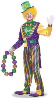 Mardi Gras Carnivale Clown Adult Male Costume New