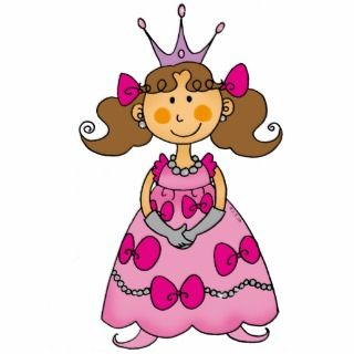 Cute little princess (brown hair) photo cut outs