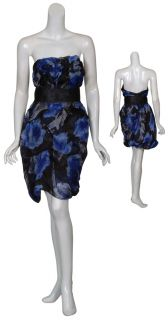 Marchesa Notte Floral Silk Print Cocktail Dress 0 New
