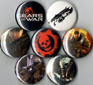 Gears of War 7 Pins Buttons Badges Marcus Fenix Horde