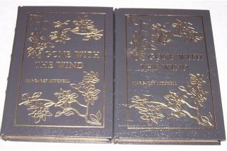 Gone with The Wind Margaret Mitchell Easton Press Leather HC 2 Volumes