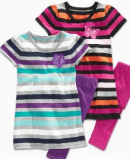 GUESS Kids Set, Little Girl Striped Sweater Dress and Leggings   Kids