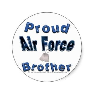 Proud Air Force Brother Stickers