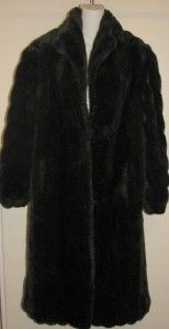Gorgeous Mariel Faux Fur Deep Mahogany Mink Full Length Coat SzM