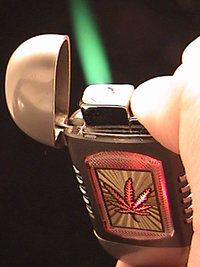 Novelty Marijuana Pot Weed 420 Cigar Pipe Torch Lighter