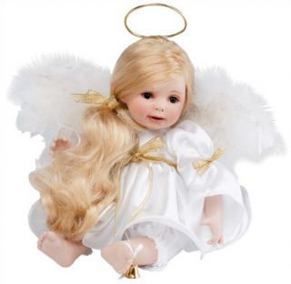Marie Osmond Doll Heavens Holiday Helper 10 quot Seated