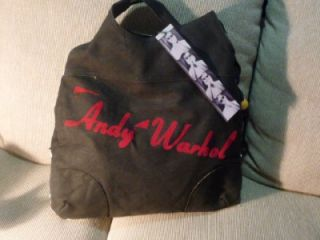 Andy Warhol RARE Marilyn Monroe Black White Bag Tote Handbag