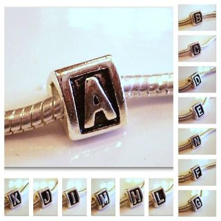 Alphabet Beads and Charms A B C D E F G H I J K L M N O P