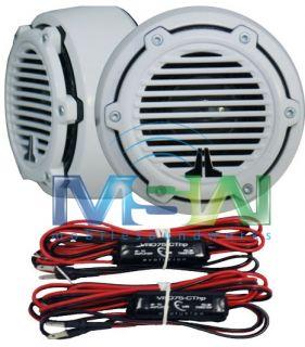 JL Audio® M100 Ct CG WH 1 Silk Dome Marine Tweeters w Classic Grills