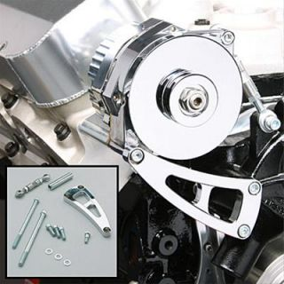 Summit Alternator Bracket Aluminum Chrome Water Pump Mount Long Water