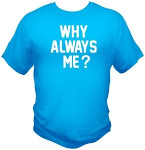 Why Always Me T Shirt Mario Balotelli Manchester City MCFC