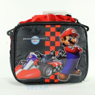 Super Mario Brothers Mario Kart Red Checkered Lunch Bag Box Case Bros