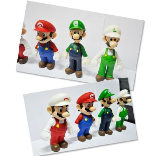 Super Mario Bros Lot 4 Pcs Mario and Luigi Figure M14