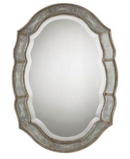Howard Elliott Queen Ann Antique Black Mirror