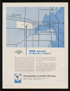 1959 Chesapeake Ohio Railway Marion in Industrial Site Ad
