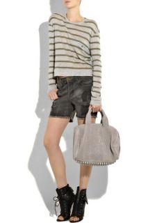 Alexander Wang Light Grey Studded Rocco Mini Duffle Bag Leather Duffel
