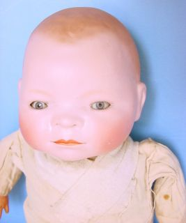 "1900s Grace Putman 14"" Bye Lo Baby Bisque Head Doll Germany"