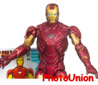 Hasbro Iron Man 2 Mark VI POWER UP GLOW! Marvel Universe Figure Model