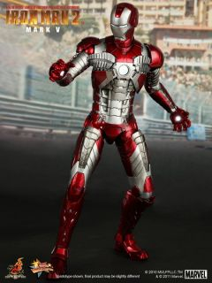 Marvel Iron Man 2 MMS145 Mark V 5 1 6 Action Figure Send EMS