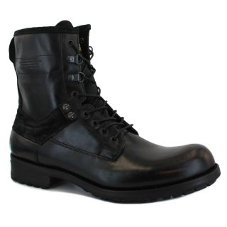 Star Marker III Mens Laced Leather Boots Black