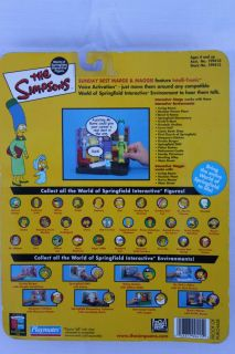 World of Springfield Marge Maggie Simpson Sunday Best Interactive Toy