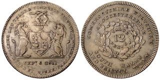 Silver Shilling 1811 AU Let Trade Commerce issued by w Sheppard